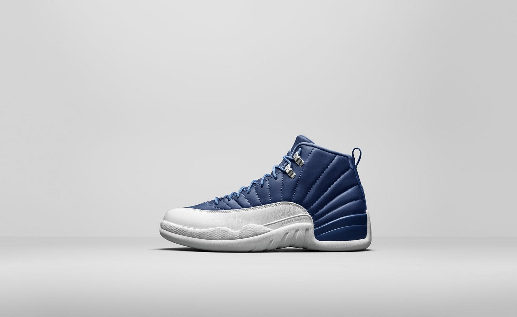 Air Jordan 12 Retro - Stone Blue (Indigo) - 130690-404