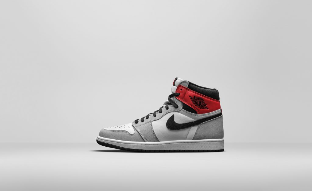 Nike Air Jordan 1 High OG - Ligh Smoke Grey - 555088-126