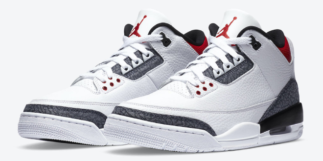Nike Air Jordan 3 SE Denim - Fire Red (CZ6431-100)