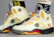 Off White x Air Jordan 5 - Sail - Fire Red (DH8565-100)