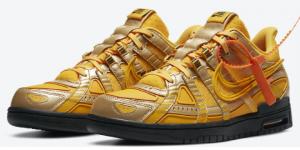 Sneaker Release: Off-White x Nike Air Rubber Dunk - University Gold (CU6015-700)