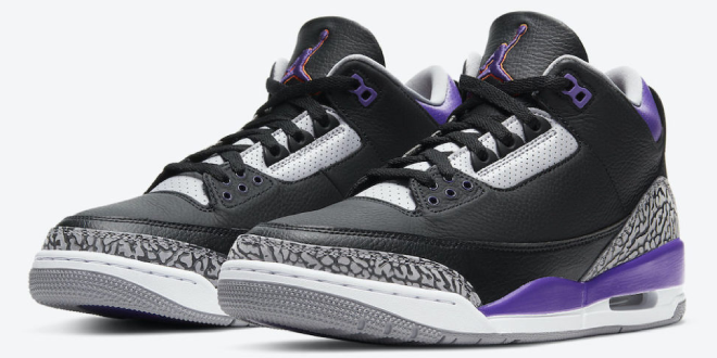 Release info: Air Jordan 3 - Court Purple (CT8532-050)