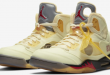 Release info: Off-White x Air Jordan 5 - Sail Fire Red (DH8565-100)