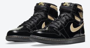 Air Jordan 1 High OG - Black Metallic Gold (555088-032)