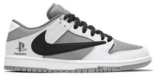 Travis Scott X Nike Dunk Low - Playstation 5
