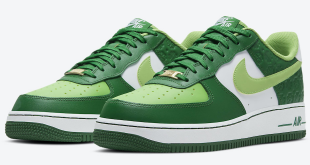 Sneaker release van de Nike Air Force 1 - St. Patrick's Day (DD8458-300)