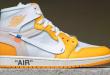 Off White x Air Jordan 1 High OG - Canary Yellow