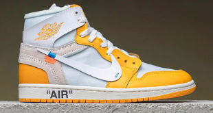 Off White x Air Jordan 1 High OG - Canary Yellow