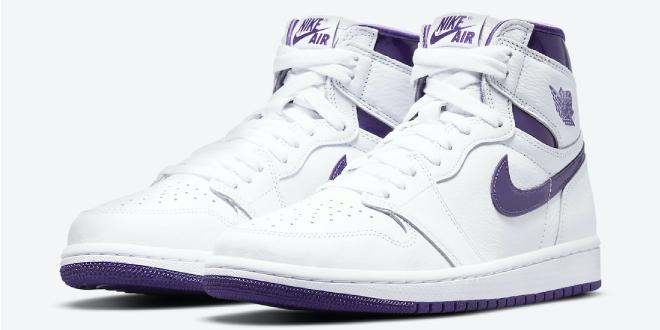 Release datum van de Air Jordan 1 High OG WMNS - Court Purple (CD0461-151)