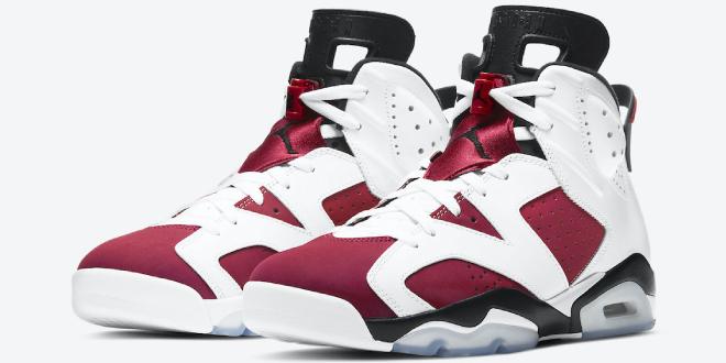 Release datum van de Air Jordan 6 - Carmine (CT8529-106)