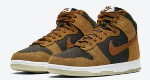 Release datum van de Nike Dunk High PRM - Dark Curry (DD1401-200)