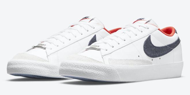 Nike Blazer Low - USA Denim (DJ6201-100)