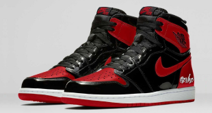 Release datum van de Air Jordan 1 High OG - Bred Patent (555088-063)