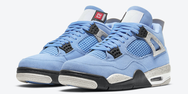 release datum van de Air Jordan 4 - University Blue (UNC) (CT8527-400)