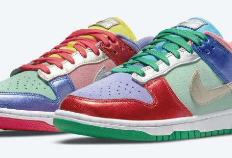 release datum van de Nike Dunk Low - 'Metallic Multi-Color' (DN0855-600)