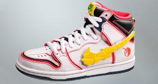 Gundam x Nike SB Dunk High - 'White RX-0 Unicorn' (DH7717-100)