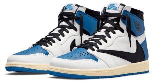 Travis Scott x Fragment x Air Jordan 1 - 'Military Blue' (DH3227-105)