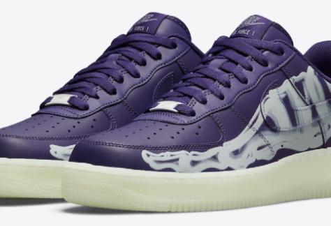 Nike Air Force 1 - 'Skeleton Purple' (CU8067-500)